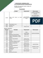 Cronograma Capacitação Liderança 2018