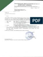 Surat Pemberitahuan Gubernur Menugaskan Bappeda Dinas