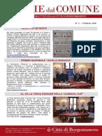 Notizie Dal Comune di Borgomanero dell'1 Febbraio 2018