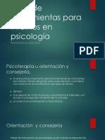 Caja de Herramientas Para Internos en Psicología