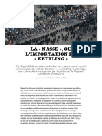 La Nasse, Ou l'Importation Du Kettling (Lundimatin)