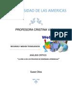 La Web 2.0  en los procesos de enseñanza aprendizaje
