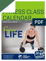 February 2018 Fitness Calendar