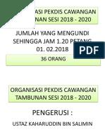 Organisasi Pekdis Cawangan Tambunan Sesi 2018 - 2020