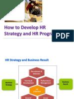 Cara Menyusun HR Strategy and Programs