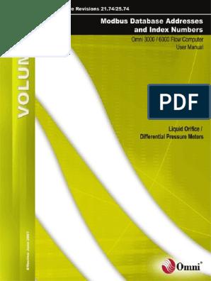 omni 3000_6000 modbus database 4B pdf | Programmer | Flow