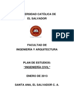 Plan de Estudios Ingeniería Civil 2013