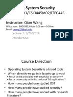 CSCI 620 Note Intro