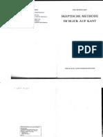 Marquard, Odo - Skeptische Methode Im Blick Auf Kant