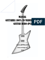 Manual Guitarra 100% en Madera Para Guitar Hero (Pc)