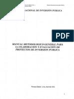 Manual Metodologico PIP MEF