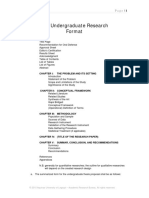 Undergraduate Research Format