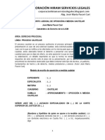 Modelo de Escrito Judicial de Oposición a Medida Cautelar - Autor José María Pacori Cari