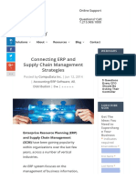 Connecting ERP and Supply Chain Management Strategies