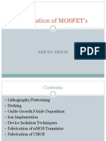 Fabrication of MOSFET