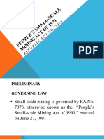 People's Small-scale Mining Act of 1991