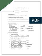 Kuesioner Pekerja Informal (Ukk)