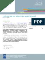 Focus Francais Sur Objectif Specifique