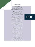 Music lyrics