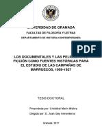 Los documentos y las películas de ficción como fuentes históricas para el estudio de las campañas de Marruecos, 1909-1927