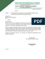 Surat Permohonan Penyambungan Listrik