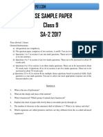 Class 9 Science Sa2 Sample Paper(3)