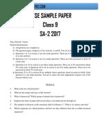 Class 9 Science Sa2 Sample Paper(3)