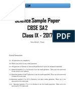 Class 9 Science Sa2 Sample Paper(2)