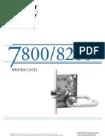 Sargent-7800 8200 Catalog