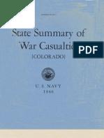 WWII Colorado Navy Casualties