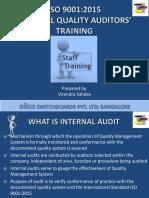 ISO 9001_2015 Internal Auditors Tarining