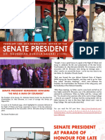 NEWSLETTER. OFFICE OF THE SENATE PRESIDENT, DR. ABUBAKAR BUKOLA SARAKI. FEBRUARY 1ST, 2018