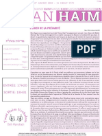 Mayan 'Haim Béchalakh 5778