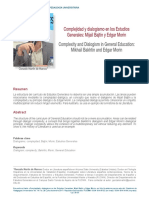 Complejidad y Dialogismo en Los Estudios Generales