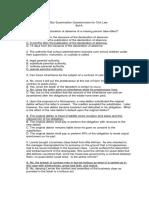 Civil 2011 Bar Exam Questionnaire