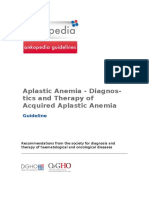 Aplastic Anemia Diagnostics and Therapy of Acquired Aplastic Anemia