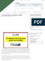 Vocabulaire Français Pour Parler de La Météo