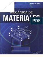 Mecánica de Materiales - 6ta Edición - James M. Gere