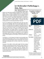 Association for Molecular Pathology v. Myriad Genetics, Inc