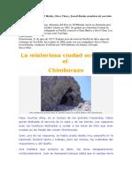 La misteriosa ciudad oculta en el  Chimborazo