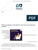 Roteiro de Avaliação e Formulação de Caso Clínico Para Terapeutas Iniciantes _ Superac