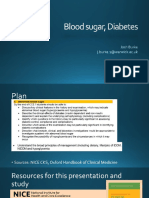 Blood Sugars - Diabetes
