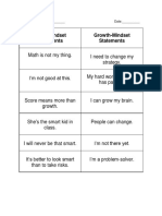 lesson 2  growth or fixed mindset sort