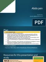 Abdo pain