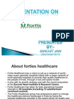 PPT o f Fortis Hospital