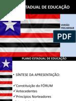 Plano Estadual de Educaçâo Maranhão