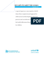 UNICEF - Narrowing the Gaps to Meet the Goals