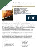 Biografía de Carlos Fuentes
