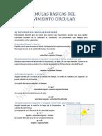 Formulas Basicas Movimeinto Circular
