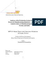 Analyses of the Production System Development Process in Mfg. Industries- Comparative Study -India and Sweden